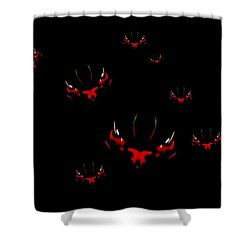 Shower Curtain featuring the mixed media We Are Watching You by Mike Breau