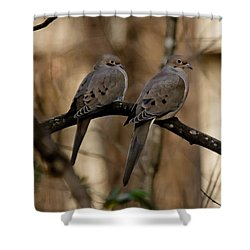 Shower Curtain featuring the photograph We Came Together - We're Leaving Together by Robert L Jackson
