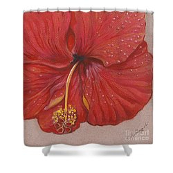 Shower Curtain featuring the painting We Have Had Rain by Carol Wisniewski