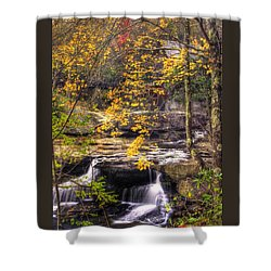 We Have Reached The Mill - Glade Creek Grist Mill Babcock State Park West Virginia - Autumn Shower Curtain