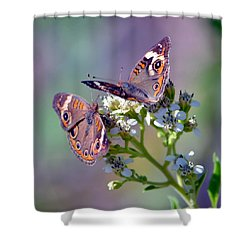 Shower Curtain featuring the photograph We Make A Beautiful Pair by Deena Stoddard