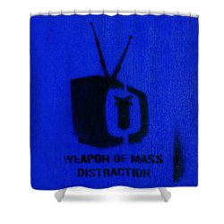 Weapon Of Mass Distraction Shower Curtain by A Rey