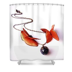 Wearable Art . Never Ending Love . One Of A Kind Necklace Shower Curtain by Marianna Mills