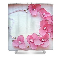 Wearable Art . One Of A Kind Statement Necklace Shower Curtain by Marianna Mills