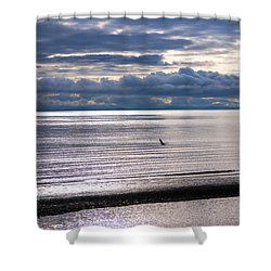 Shower Curtain featuring the photograph Weather Water Waves by Jordan Blackstone