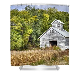 Weathered Barn Shower Curtain