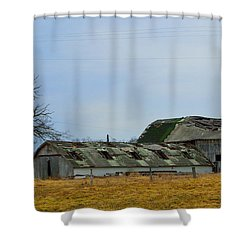 Weathered Barns Shower Curtain by Alys Caviness-Gober