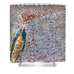 Weathered Boat - Abstract Shower Curtain by Heidi Smith