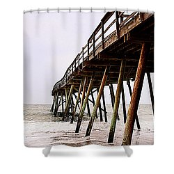 Weathered Oceanic Pier  Shower Curtain