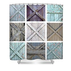Weathered Paint Shower Curtain by Art Block Collections
