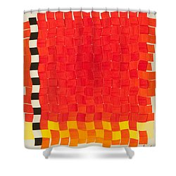 Weave #2 Sunset Weave Shower Curtain