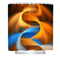 Weaving Color  Shower Curtain