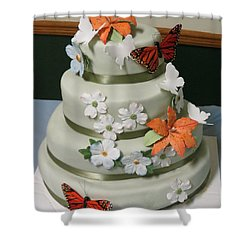 Wedding Cake For April Shower Curtain