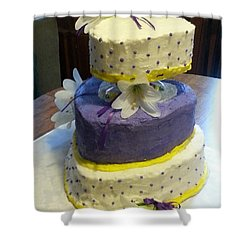 Wedding Cake For May Shower Curtain