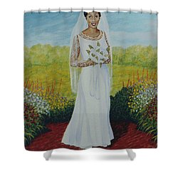 Wedding Day Shower Curtain by Stacy C Bottoms