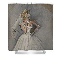 Wedding Dress Shower Curtain