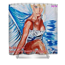 Wedding Lingerie Magazine Cover Shower Curtain by PainterArtist FIN