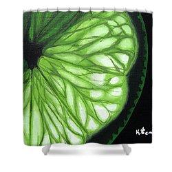 Wedge It Shower Curtain by Kayleigh Semeniuk