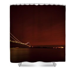 Wednesday Night Lights Shower Curtain by Evelina Kremsdorf