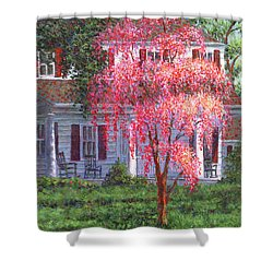 Weeping Cherry By The Veranda Shower Curtain
