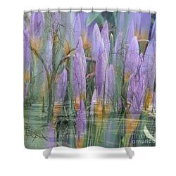 Weeping Flowers Shower Curtain by PainterArtist FIN