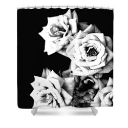 Shower Curtain featuring the photograph Weeping Roses by Rachel Mirror