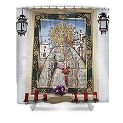 Weeping Virgin Shower Curtain