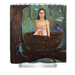Weeping Willow Shower Curtain by Leah Saulnier The Painting Maniac