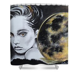 Weight Of The World Shower Curtain by Carla Carson