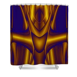 Shower Curtain featuring the painting Weightlifter by Rafael Salazar