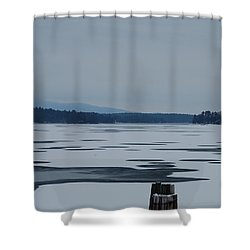 Shower Curtain featuring the photograph Weirs Beach Nh Almost by Mim White
