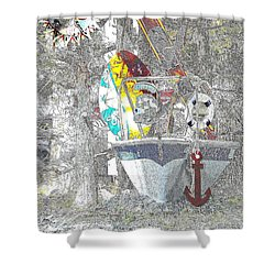 Welcome Bow Shower Curtain