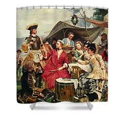 Welcome Shower Curtain by Gustave Jean Jacquet