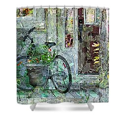 Welcome Home Shower Curtain by Claire Bull