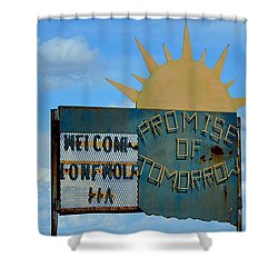 Hometown Welcome Shower Curtain