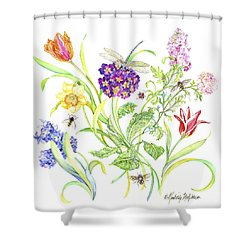Welcome Spring I Shower Curtain by Kimberly McSparran