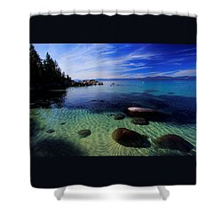 Shower Curtain featuring the photograph Welcome To Bliss Beach by Sean Sarsfield