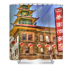 Welcome To Chinatown Shower Curtain by Juli Scalzi