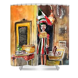 Welcome To Italy 07 Shower Curtain by Miki De Goodaboom