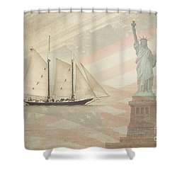 Welcome To Nyc Shower Curtain by Hannes Cmarits