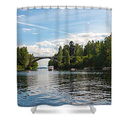 Welcome To Oravi Shower Curtain