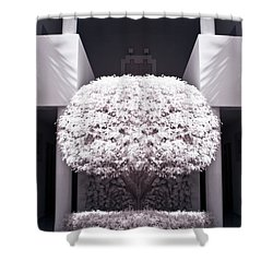 Welcome Tree Infrared Shower Curtain by Adam Romanowicz