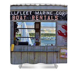 Wellfleet Harbor Thru The Window Shower Curtain