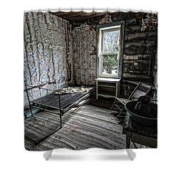 Wells Hotel Room 2 - Garnet Ghost Town - Montana Shower Curtain by Daniel Hagerman