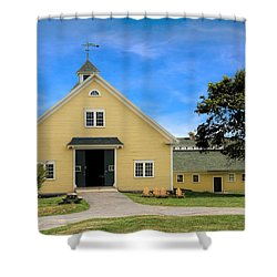 Wells Reserve Barn Shower Curtain