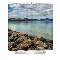 Welsh Coast Shower Curtain by Adrian Evans