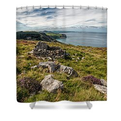 Welsh Peninsula Shower Curtain by Adrian Evans
