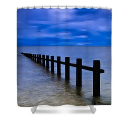 Welsh Seascape Shower Curtain by Adrian Evans