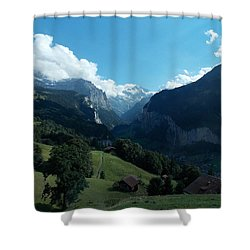 Wengen View Of The Alps Shower Curtain