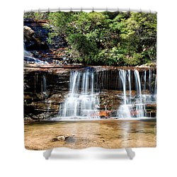 Shower Curtain featuring the photograph Wentworth Falls by Yew Kwang